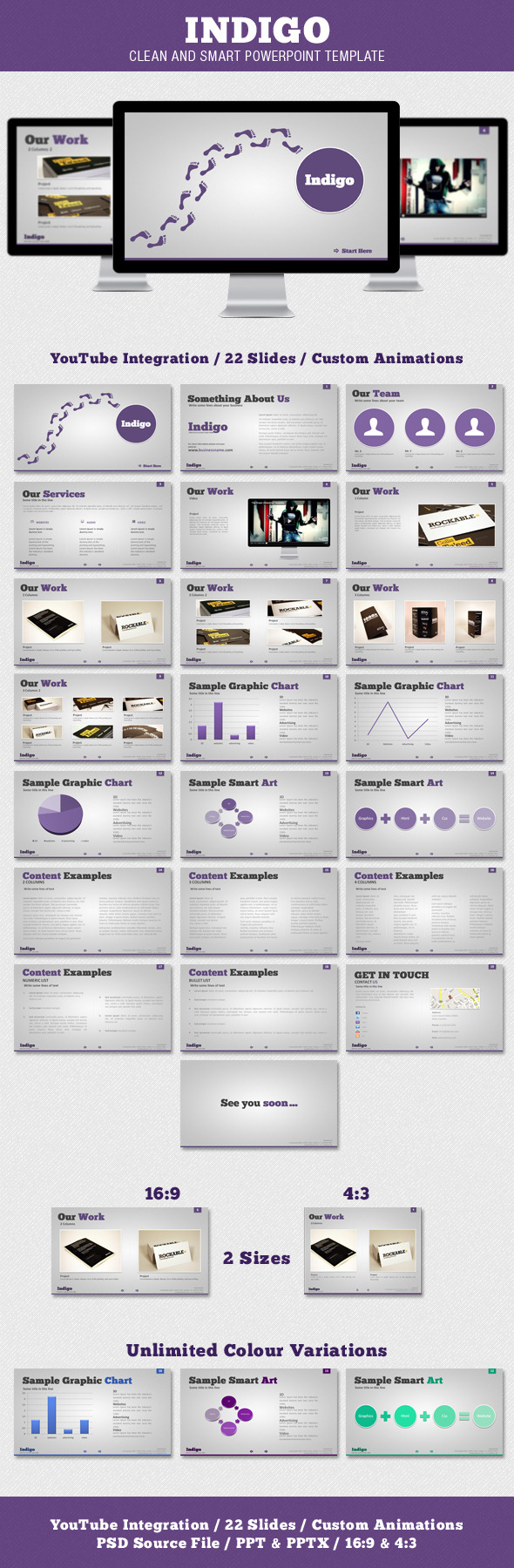 Indigo - Clean and Smart Powerpoint Template - PowerPoint Templates Presentation Templates