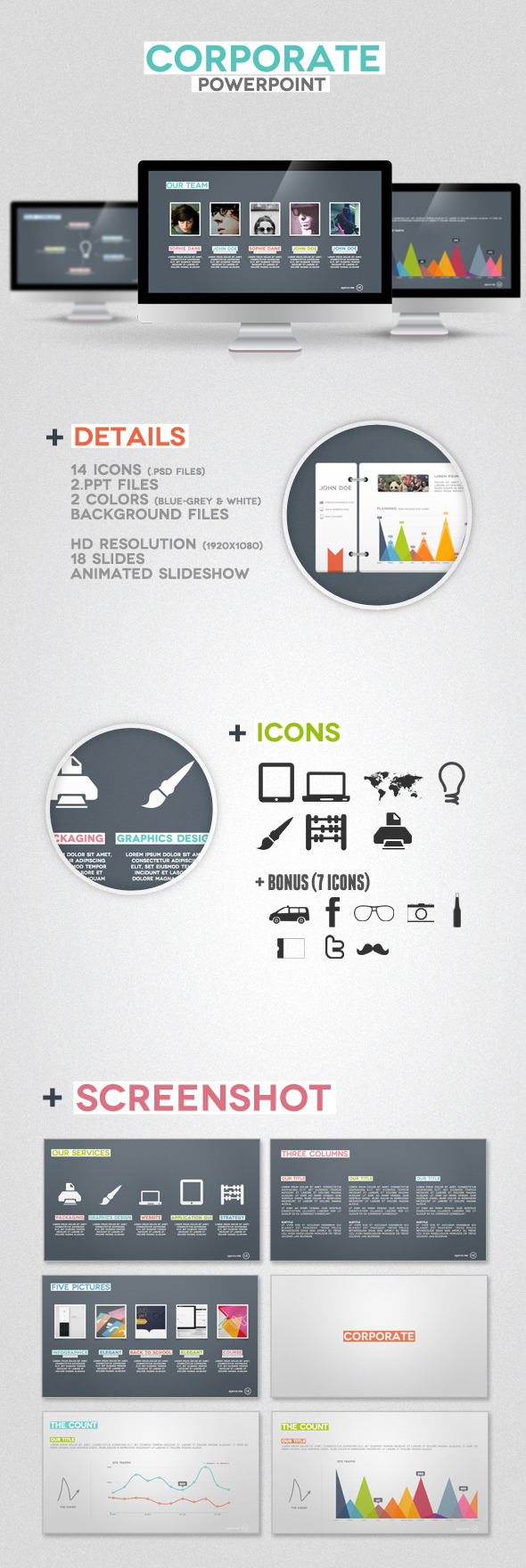 Corporate Presentation Powerpoint - Business PowerPoint Templates