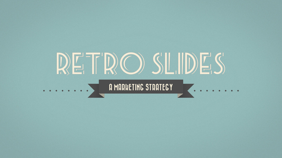 Retro Slides - PowerPoint Template (Widescreen) by