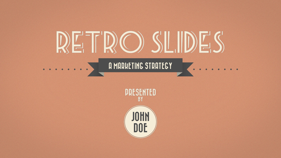 retro slides powerpoint template widescreen by opendept