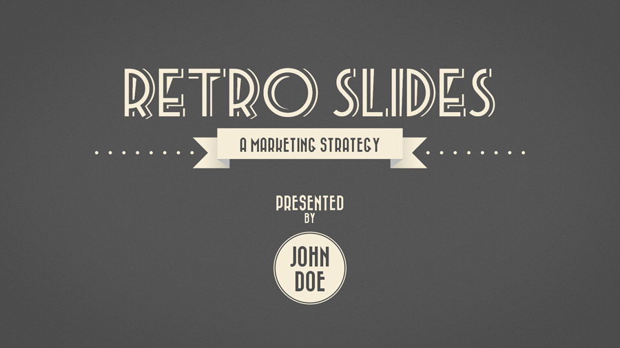 Retro slides powerpoint template widescreen by opendept retro slides powerpoint template widescreen toneelgroepblik Image collections