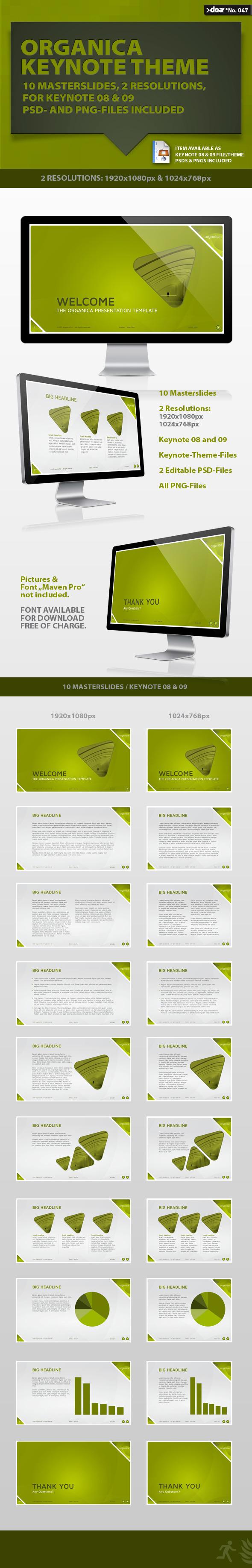 Organica Keynote Theme - Keynote Templates Presentation Templates