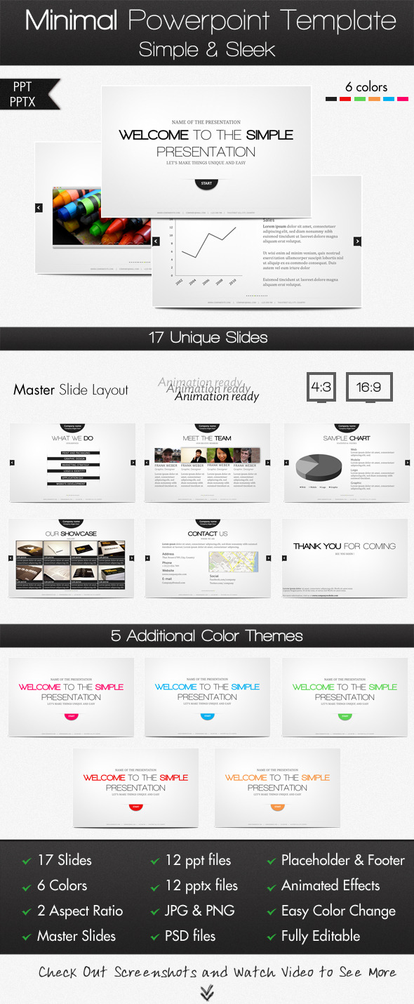 Minimal powerpoint template by excedoros graphicriver minimal powerpoint template powerpoint templates presentation templates toneelgroepblik Choice Image