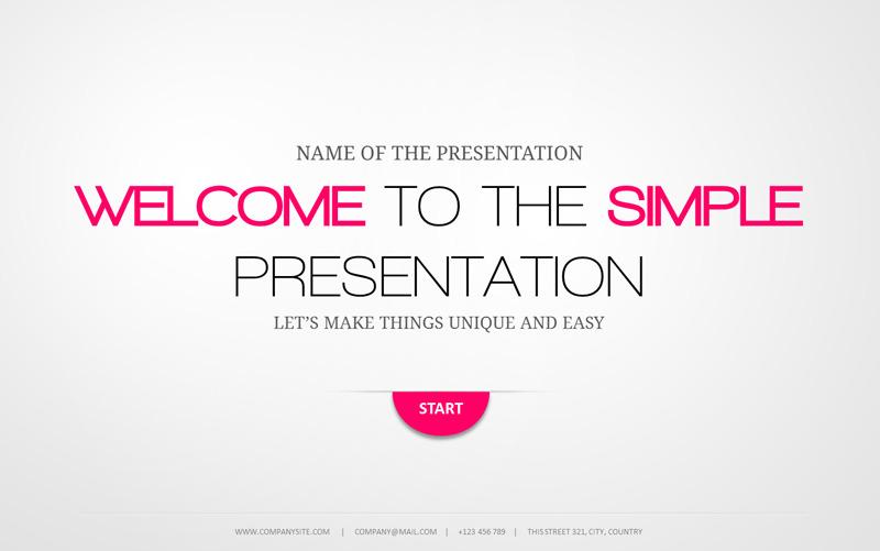 minimal powerpoint template - Minimalist Powerpoint Template Free 2