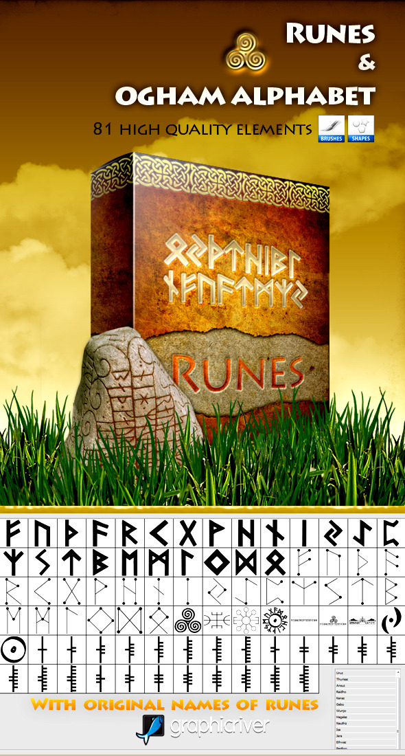 Runes and Ogham Alphabet - Miscellaneous Brushes