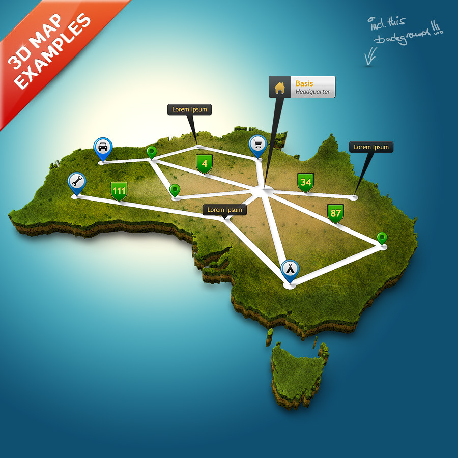 3D Map Generator Pro – Easy Routes by Orange_Box | GraphicRiver  D Map Of In on