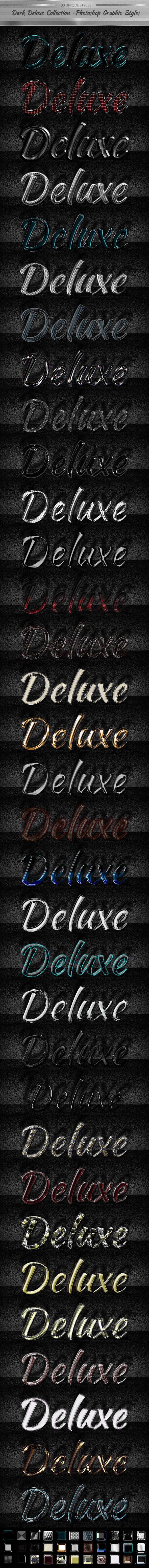 Dark Deluxe Collection - Photoshop Graphic Styles - Text Effects Styles
