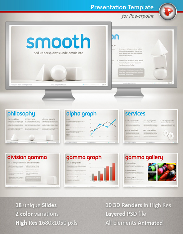 Smooth Powerpoint Presentation - PowerPoint Templates Presentation Templates