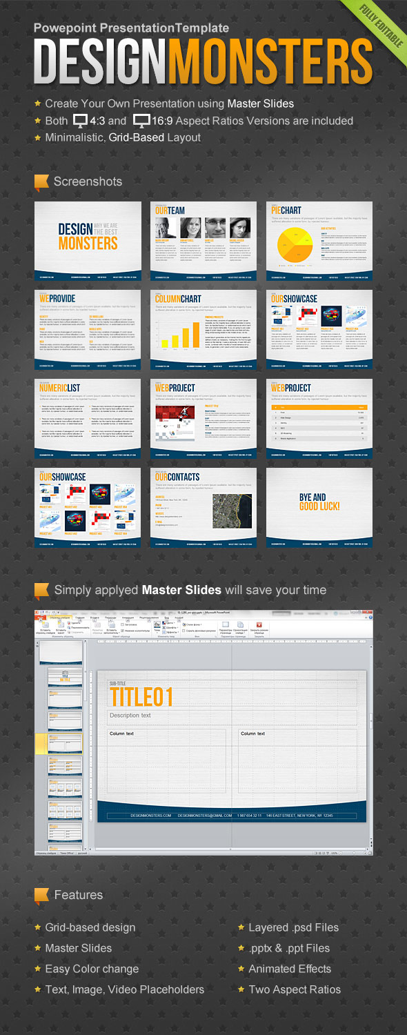DesignMonsters Powerpoint Presentation Template - PowerPoint Templates Presentation Templates