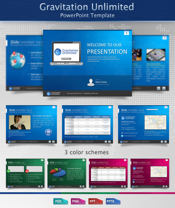Gravitation Unlimited PowerPoint Template - Business PowerPoint Templates