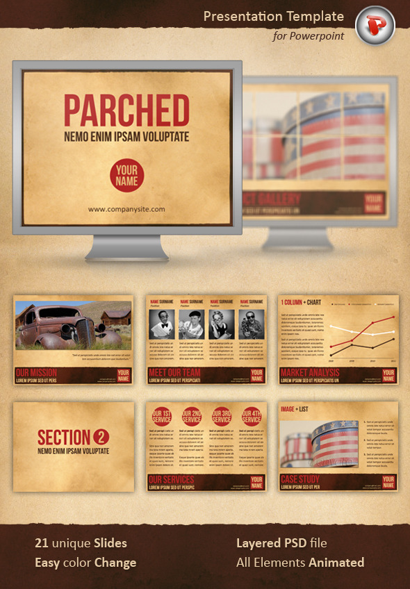 Parched Powerpoint Template - PowerPoint Templates Presentation Templates