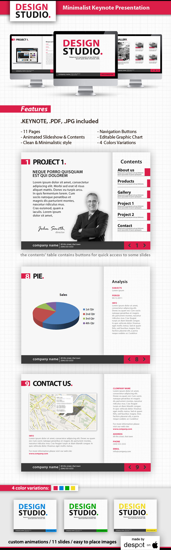 Minimalist Keynote Template - Business Keynote Templates
