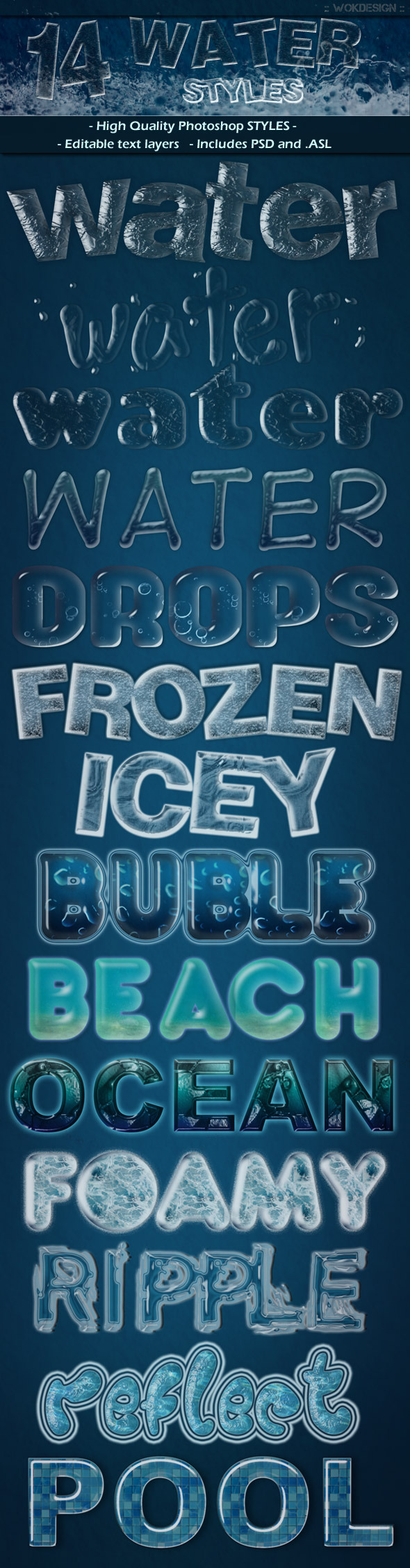 Water Styles - Text Effects Styles
