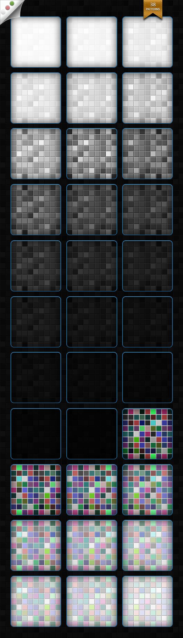 Mozaic Patterns - Textures / Fills / Patterns Photoshop