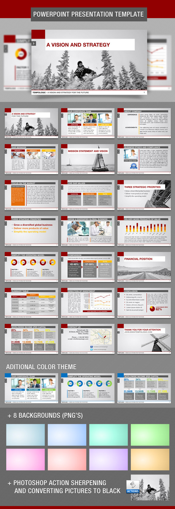 TempoLogic PowerPoint Template - Business PowerPoint Templates