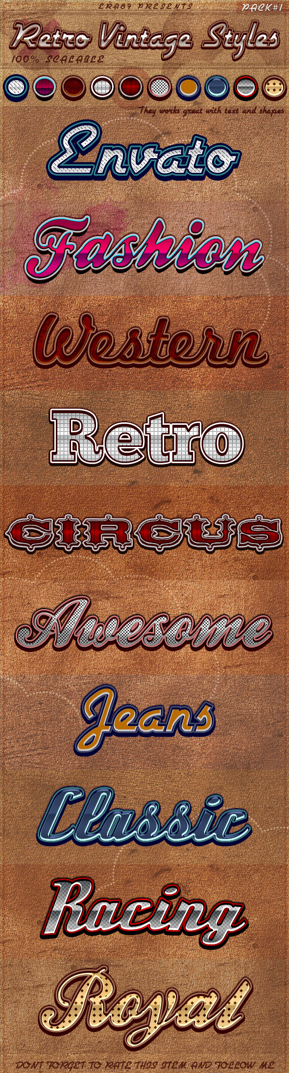 Retro Vintage Styles - Text Effects Styles