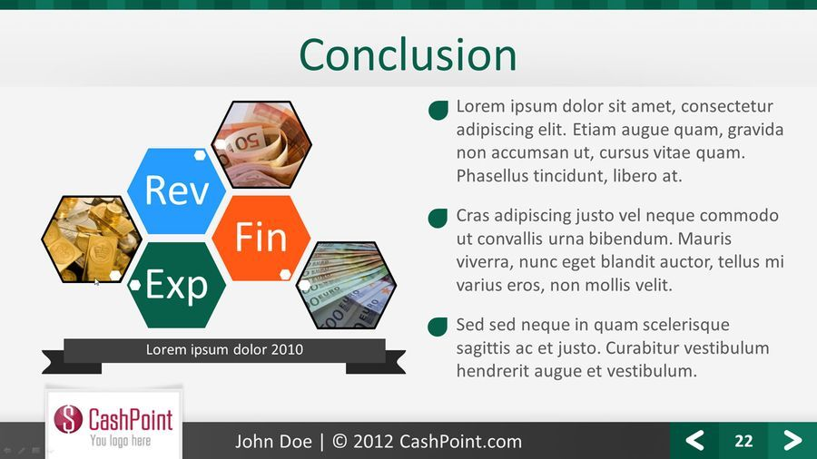 financial report fullhd powerpoint template by c