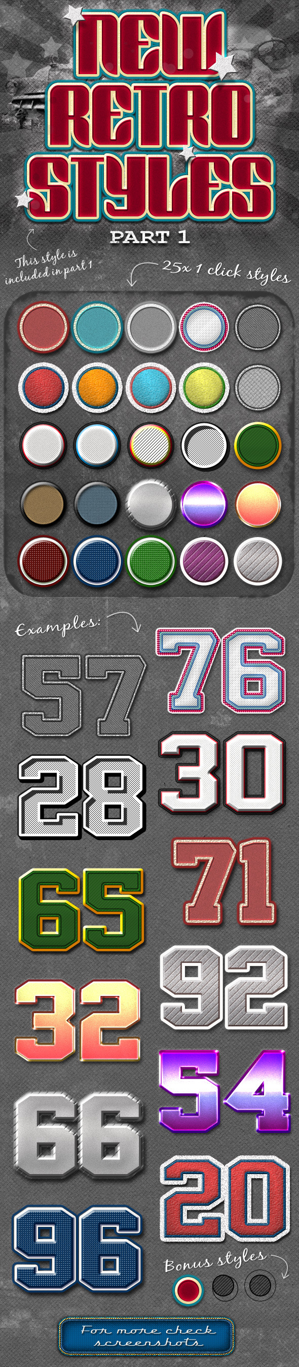 New Retro Styles Part 1 - Text Effects Styles