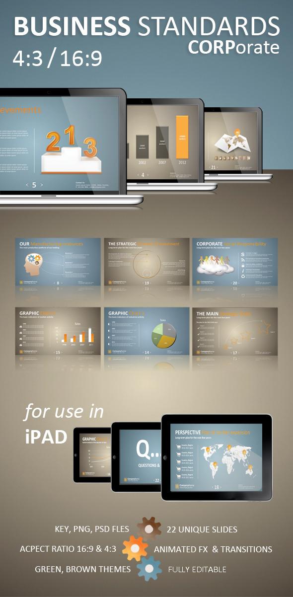 Business Standards: Keynote Corporate Presentation - Business Keynote Templates