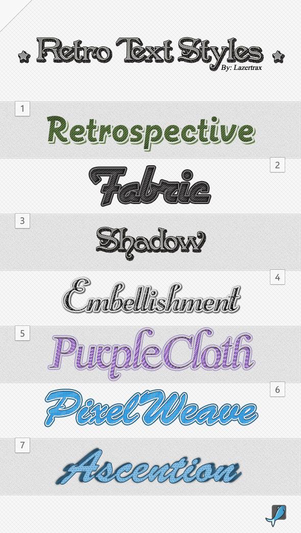 Retro Photoshop Styles - Photoshop Add-ons