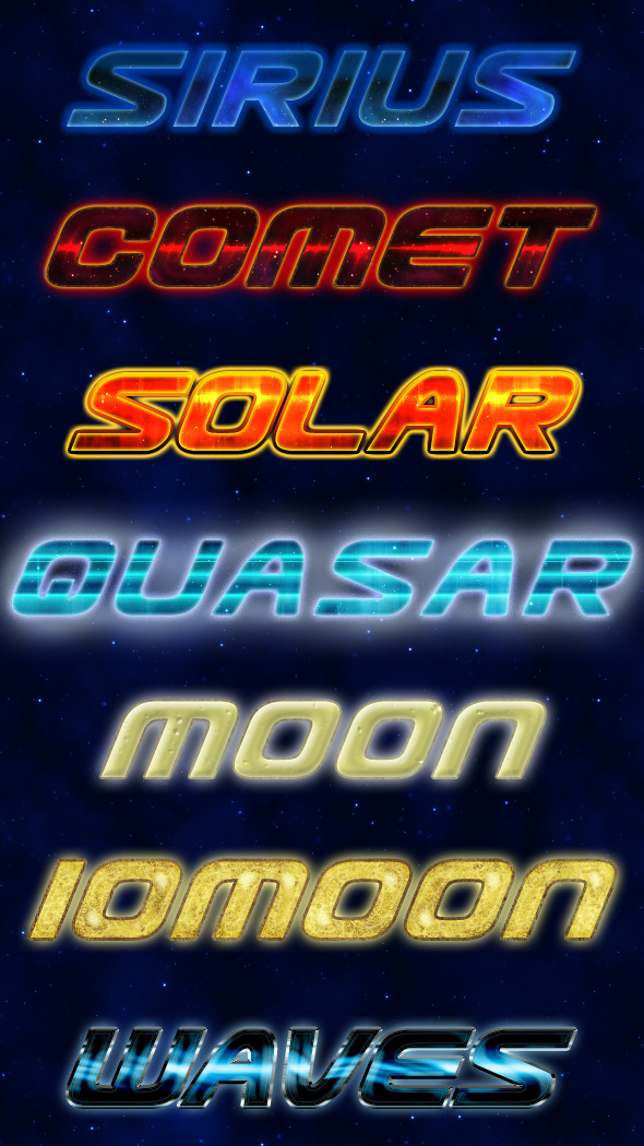 Cosmic Styles - Text Effects Styles