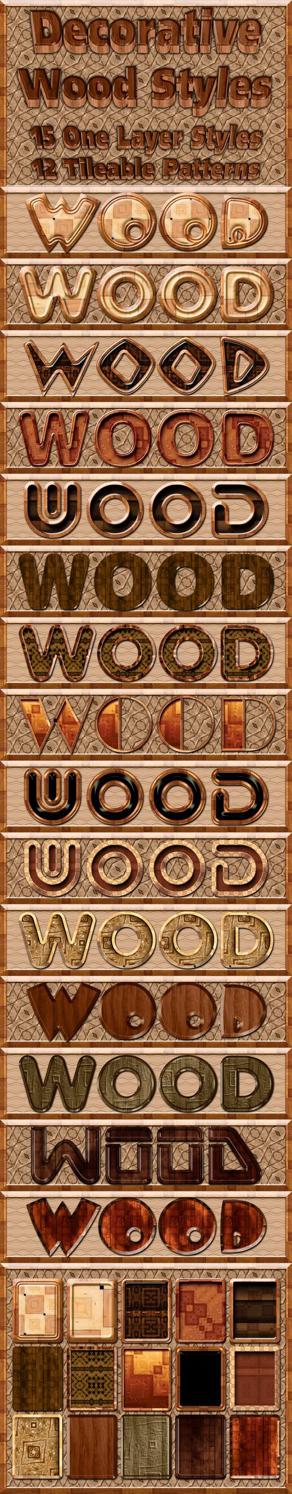 Decorative Wood Styles - Text Effects Styles