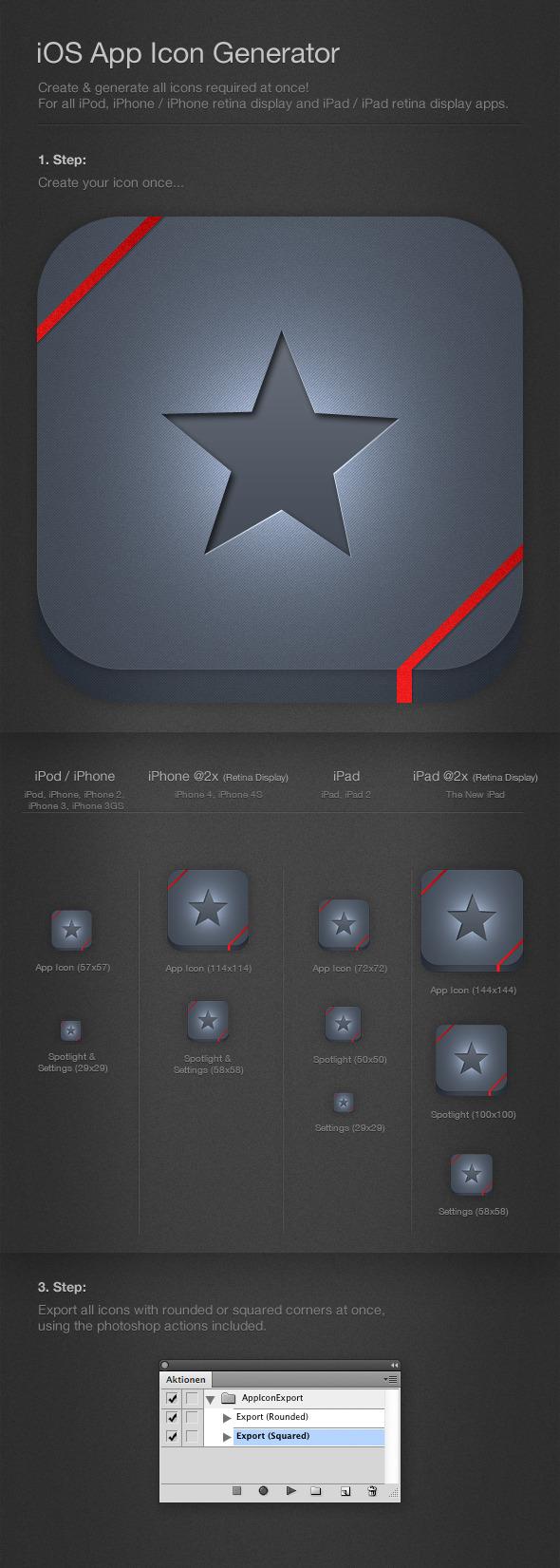 iOS Icon Generator & Exporter - Utilities Actions