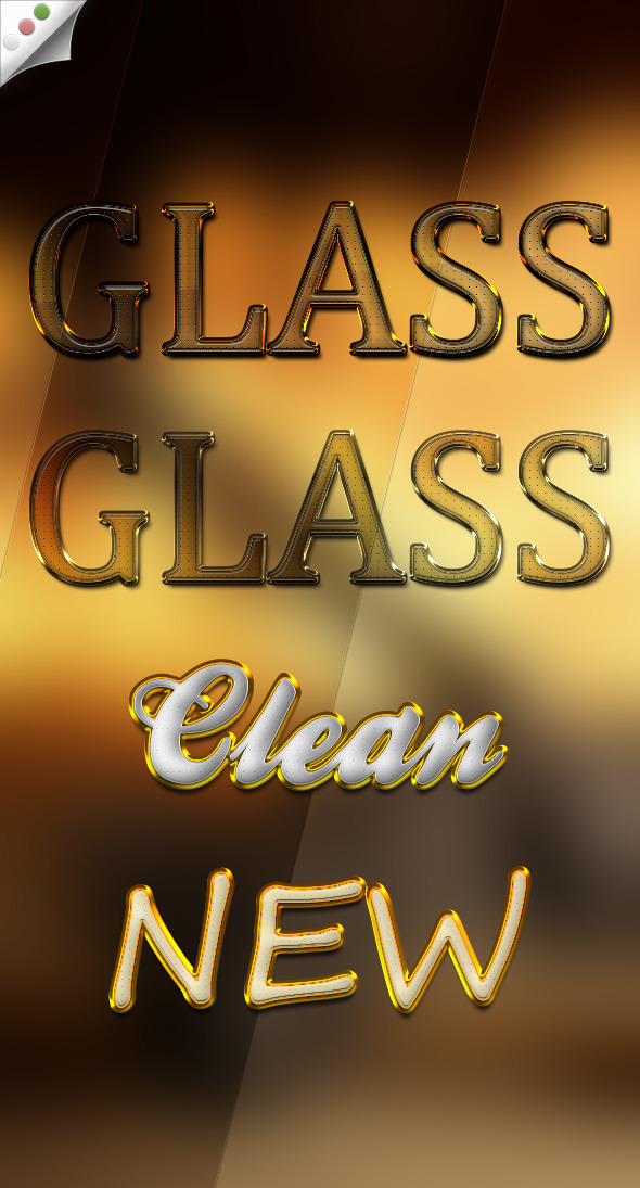 Glass Styles - Text Effects Styles