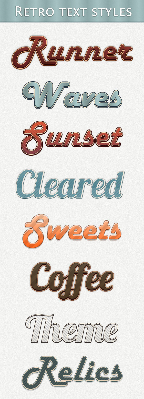 Retro Text Styles - Text Effects Styles