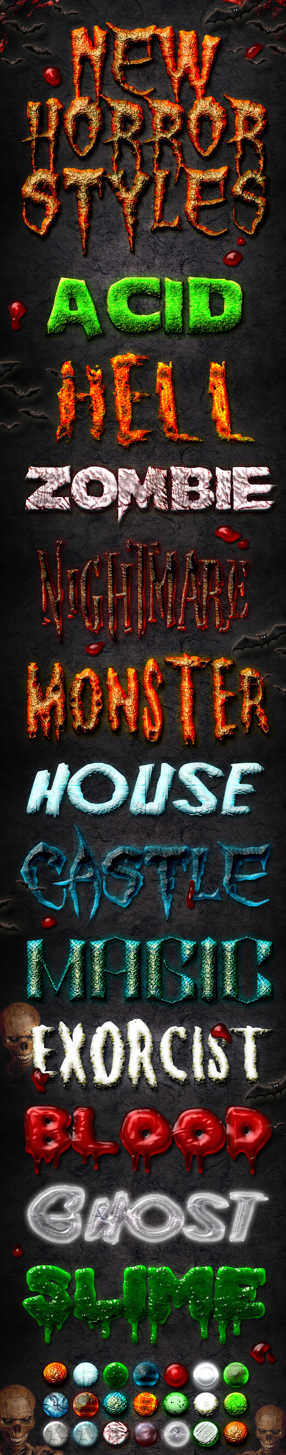 New Horror Styles - Text Effects Styles