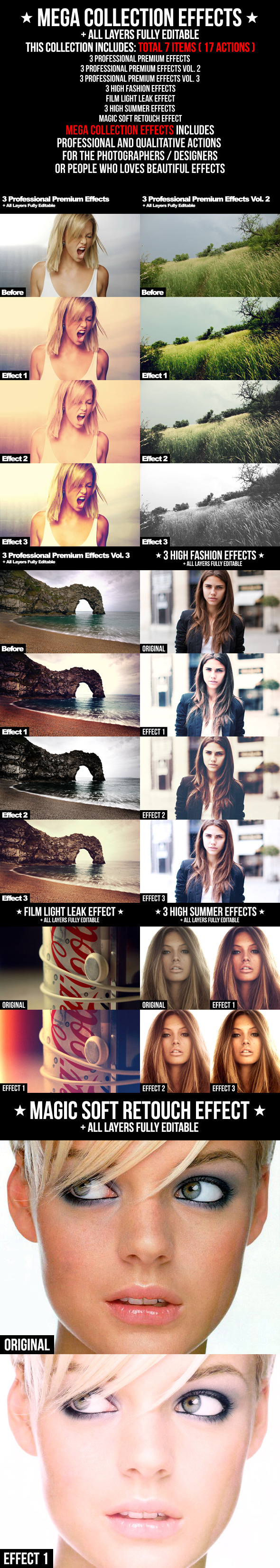 Mega Collection Effects - Photo Effects Actions