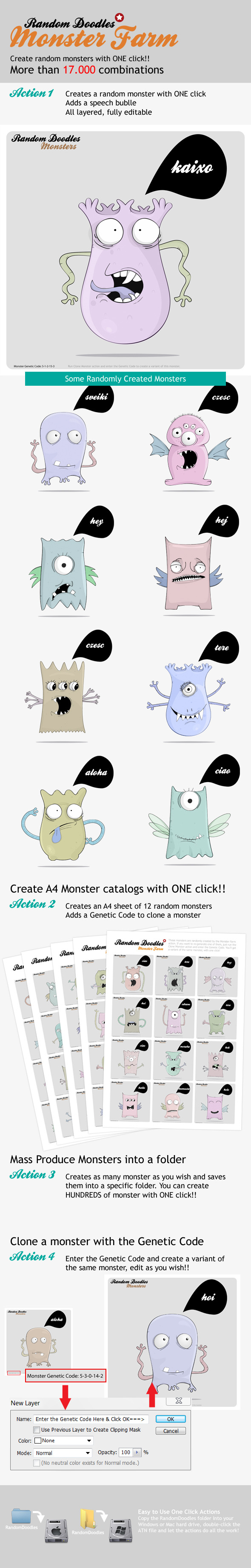 MonsterFarm - Random Doodle Generator - Utilities Actions