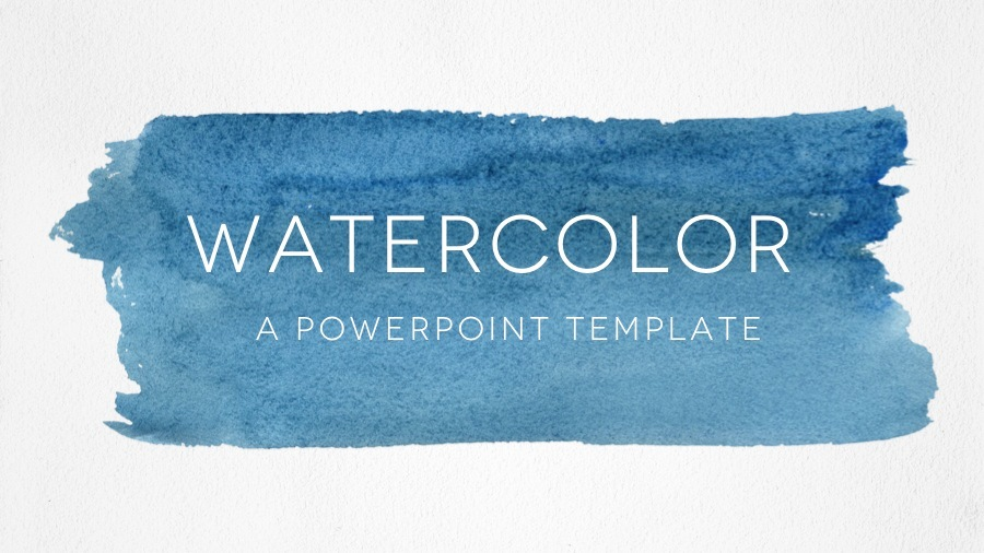 Watercolor Powerpoint Template by 83MUNKIS | GraphicRiver