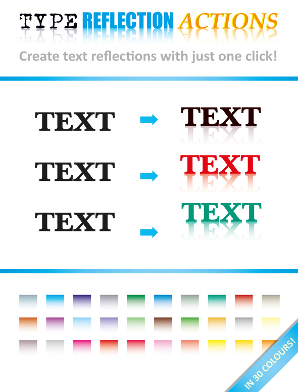 Type Reflection Action - Actions Illustrator