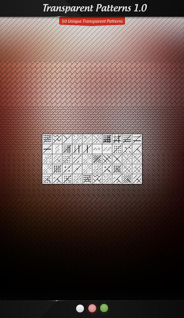 Transparent Patterns 1.0 - Textures / Fills / Patterns Photoshop