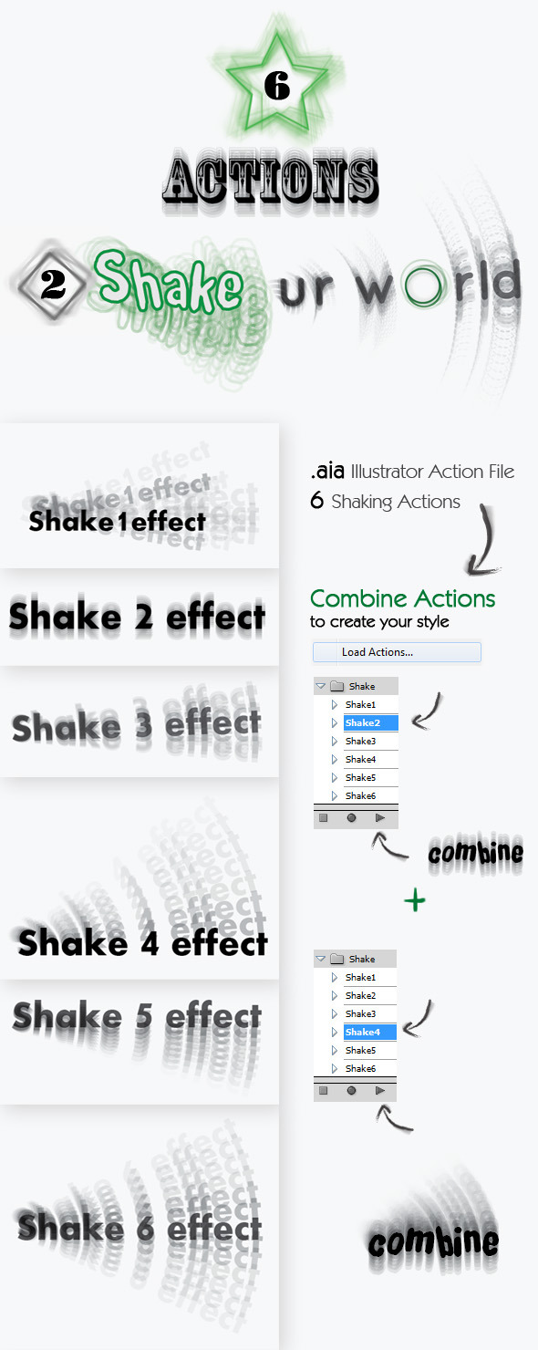 Shake - Illustrator Action - Actions Illustrator