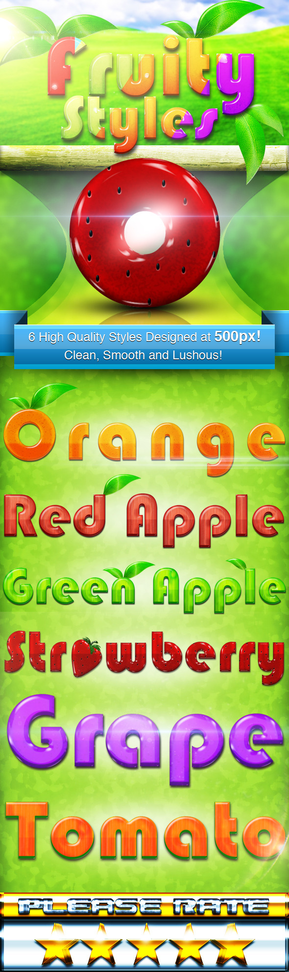 Fruity Styles - Text Effects Styles