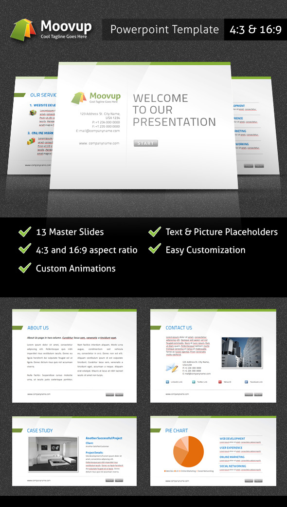 Powerpoint Presentation Template - Moovup - PowerPoint Templates Presentation Templates