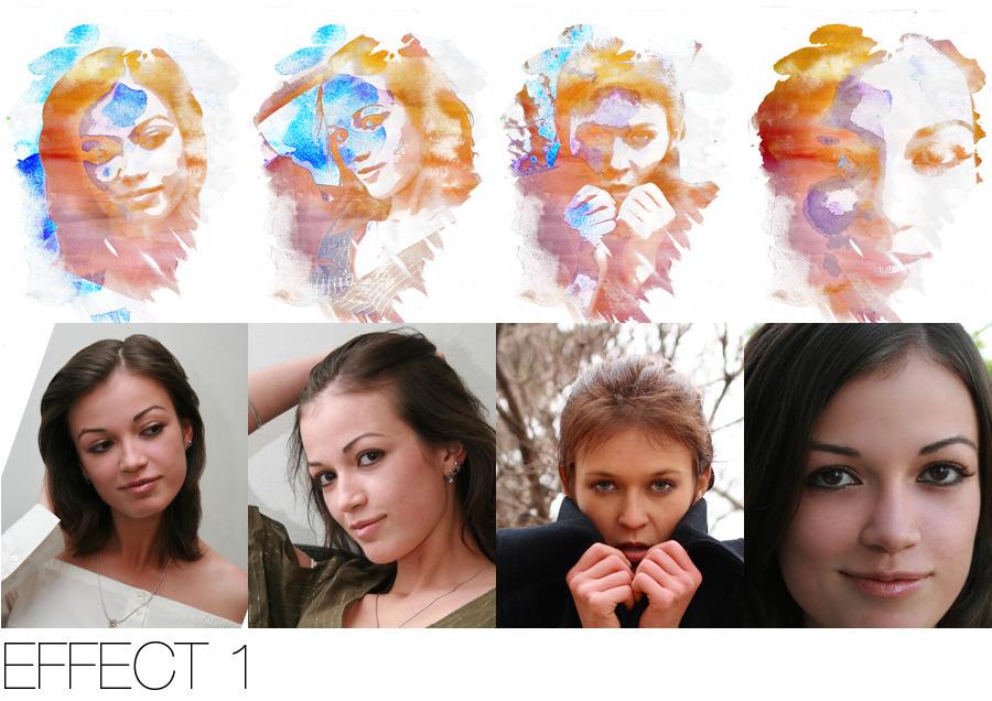 Creative Watercolor Photoshop Action by Zeplix   GraphicRiver