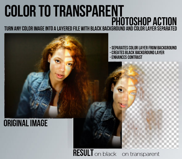 Color to Transparent Photoshop Action - Photoshop Add-ons