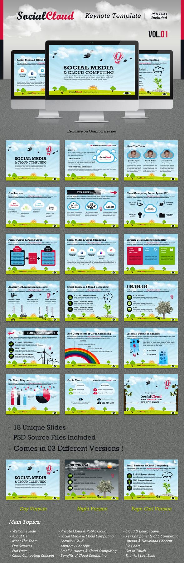 SocialCloud Keynote Template V.01 - Creative Keynote Templates
