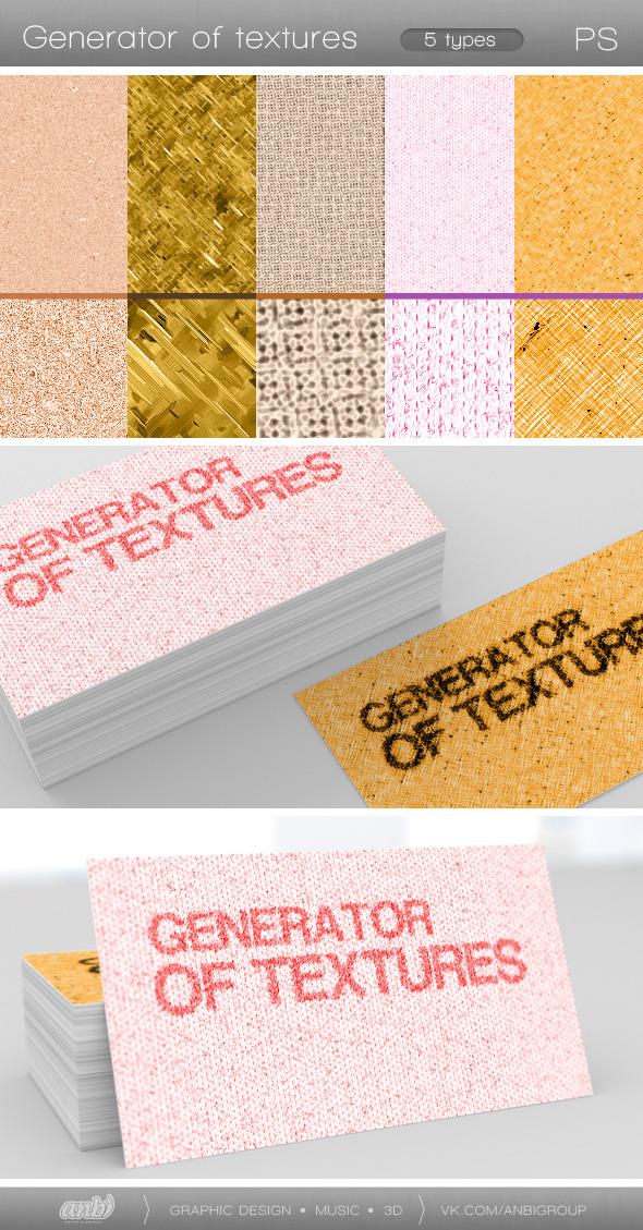 Generator of Textures - Actions Photoshop