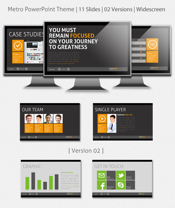 folio powerpoint presentation template graphicriver – sweatsweat, Presentation templates