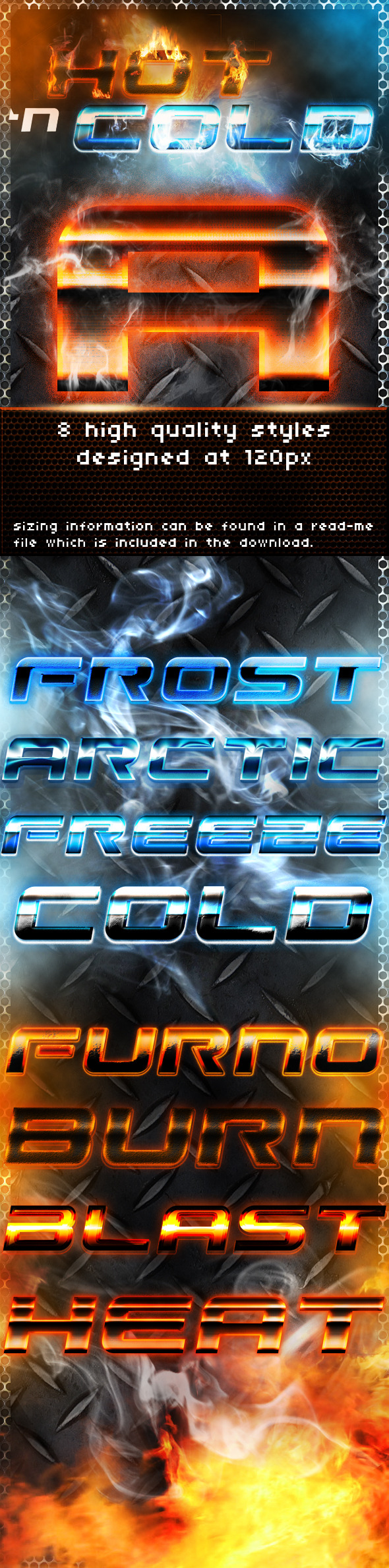 Hot 'n Cold Styles - Photoshop Add-ons