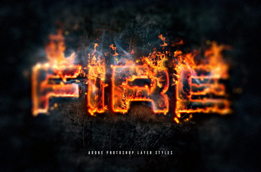 Hot Lava And Fire Layer Styles Text Effects By Giallo