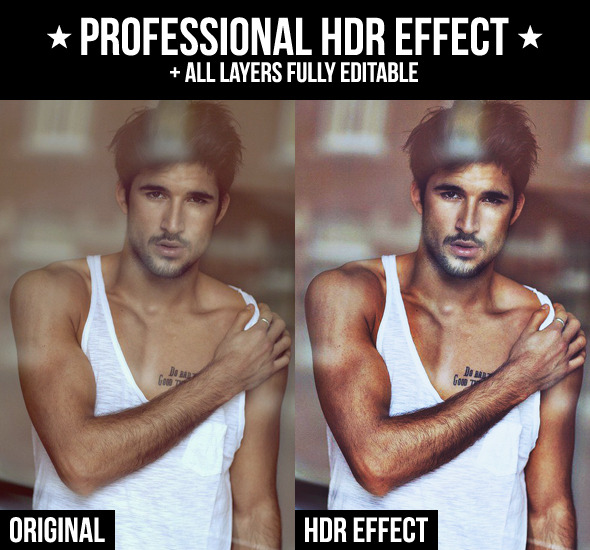 Professional HDR Effect - Actions Photoshop