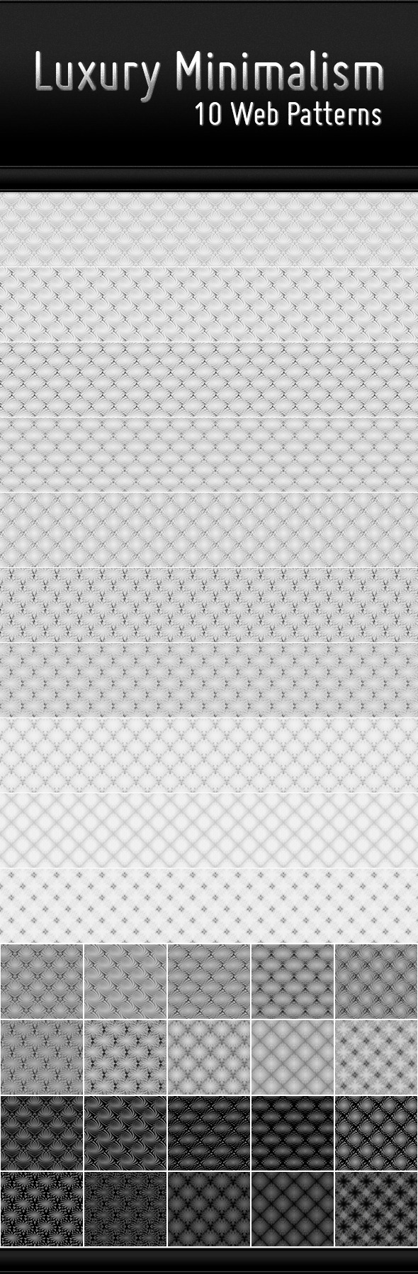 Luxury Minimalism - 10 Web Patterns - Abstract Textures / Fills / Patterns