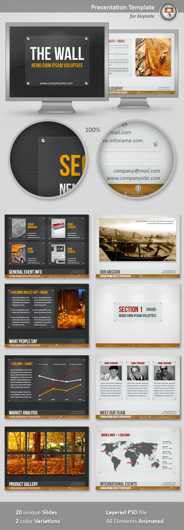 The Wall Keynote Template - Keynote Templates Presentation Templates