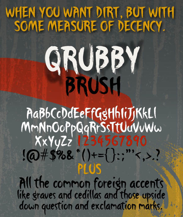 Qrubby Brush Typeface - Graffiti Fonts