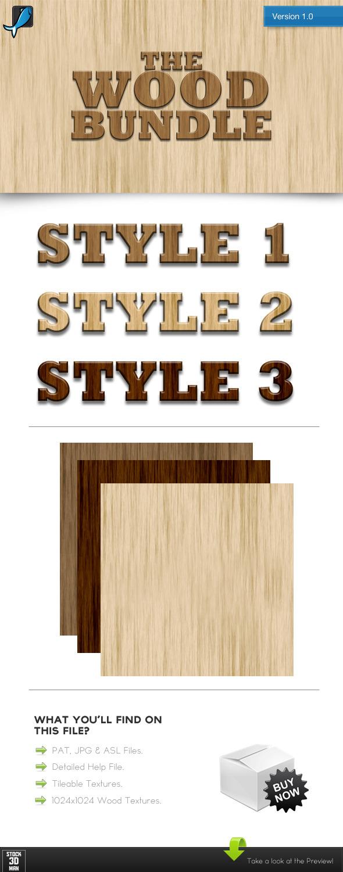 The Wood Bundle - Photoshop Add-ons